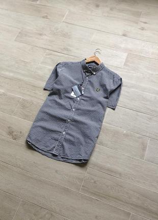 Рубашка в клетку lyle&scott новая