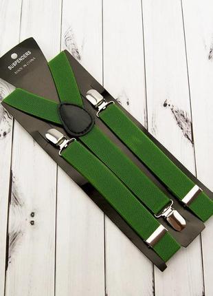Зеленые мужские подтяжки
