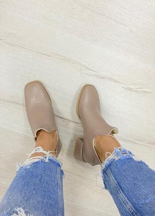 Ботинки с итальянской кожи кожаные