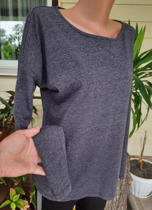 Серая футболочка с длинным рукавом