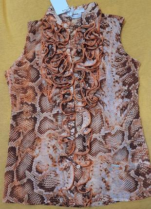 Блузка со змеиным принтом