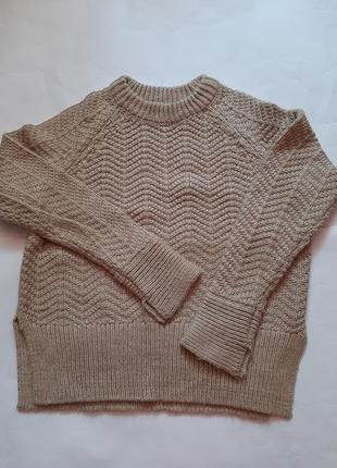 Очень теплый вязаный свитер