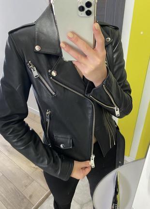 Оригінальна шкіряна куртка jacob lee london
