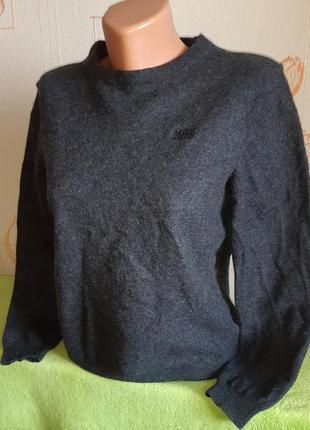 Шикарный шерстяной свитер из овечьей шерсти extrafine lambswool hugo boss, regular fit
