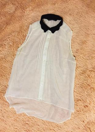 Прозрачная блузка zara