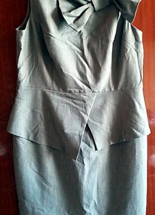 Платье-сарафан-футляр деловое