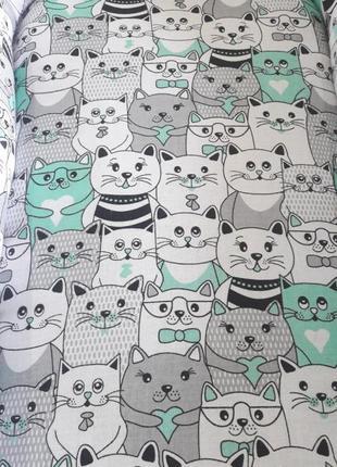Кокон для новонародженого joy м'ятні коти