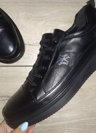 Мужские туфли классика черные мокасины чоловічі туфлі