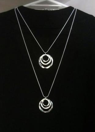 Кулон подвеска цепочка кольца серебро 925 новое