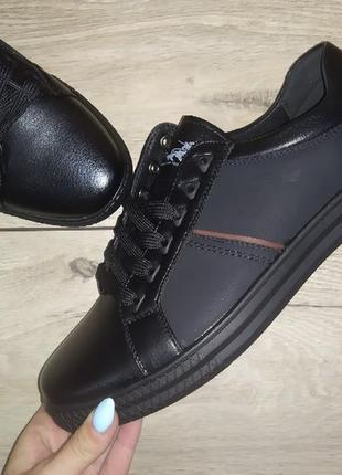Мужские туфли классика черные мокасины чоловічі туфлі кеды