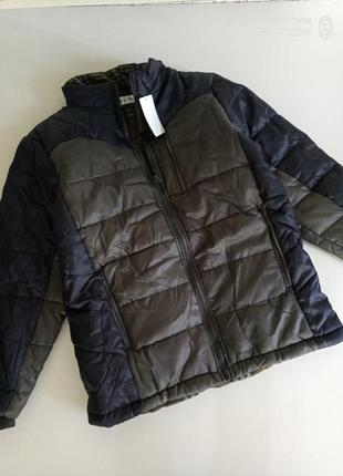 Теплая деми куртка на синтепоне , хл-xxl