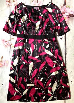 100% шёлк премиальное платье с камнями monsoon нарядное