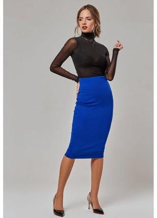 Новая синяя юбка миди новая р м- л