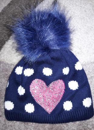 Теплая шапка на 5-6 лет