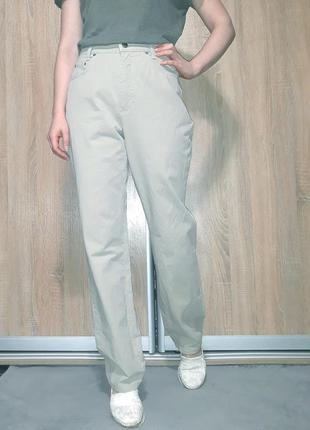 Винтажные прямые джинсы на высокой посадке wide leg mac jeans типа levis,  wrangler