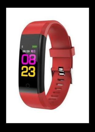 Фитнес-браслет с измерением пульса и давления  красный