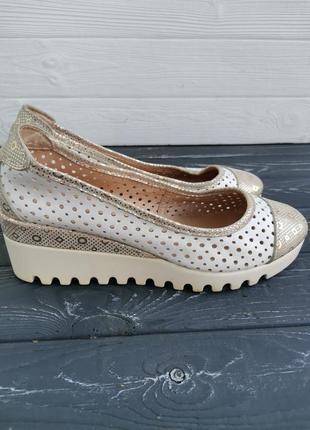 Красивые кожаные туфли с перфорацией