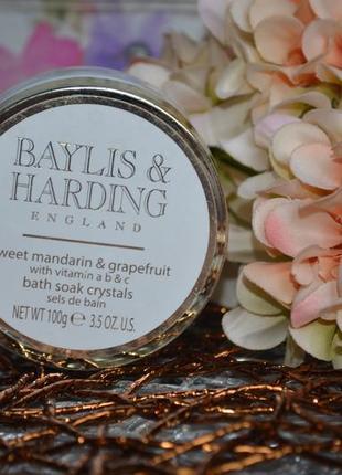 Ароматизированная соль для ванны сладкий мандарин грейпфрут baylis&harding с витаминами