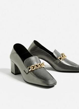 Туфли лоферы р.36 кожа