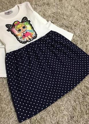 Платье с лол для девочки 98-116