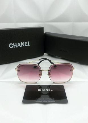 Женские солнцезащитные очки в стиле chanel🔥люкс качество