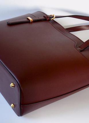 Итальянская кожаная сумка марсала в деловом стиле, италия2
