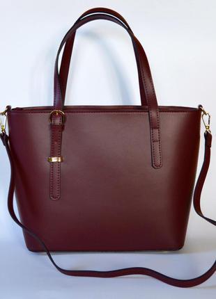 Итальянская кожаная сумка марсала в деловом стиле, италия3