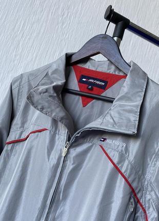Крутая винтажная куртка, ветровка tommy hilfiger athletics безрукавка - трансформер