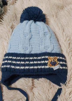 Зимняя теплая шапочка