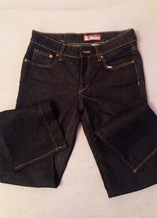 Темно-синие базовые прямые джинсы