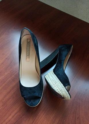 Босоножки boutique/ туфли на высоком каблуке, мягкий замш