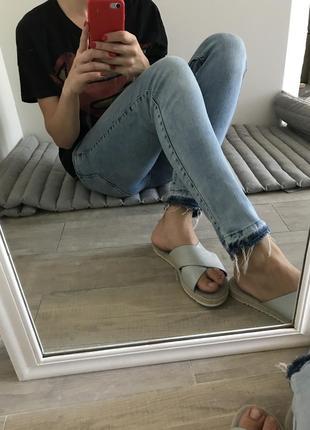 Скинни джинсы деним
