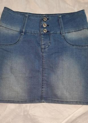 Джинсовая юбка gloria jeans
