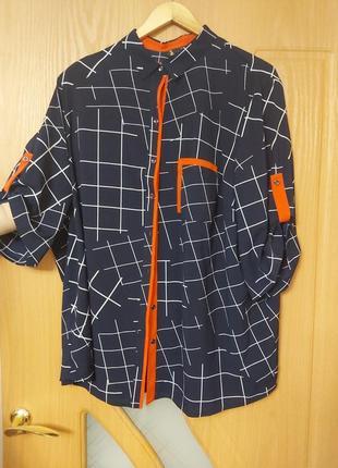 Блузка в квадрат. стильная.