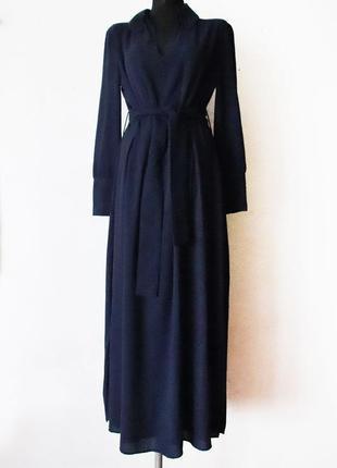 Красивейшее платье макси massimo dutti новое с бирками шерсть в составе