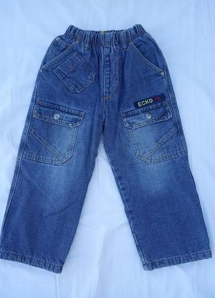 Классные фирменные джинсы на флисе