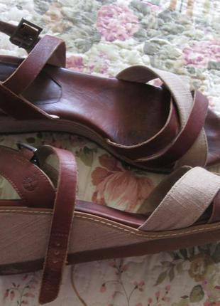 Крутейшие кожаные (натуральная кожа) босоножки дорогого бренда timberland