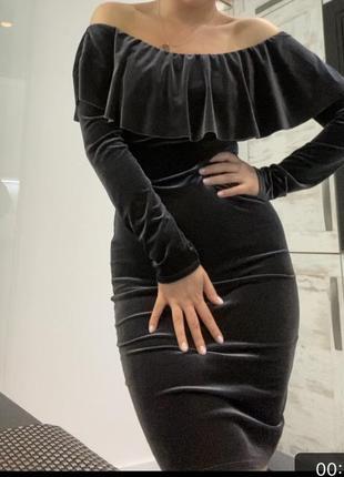 Велюровое платье по фигуре .