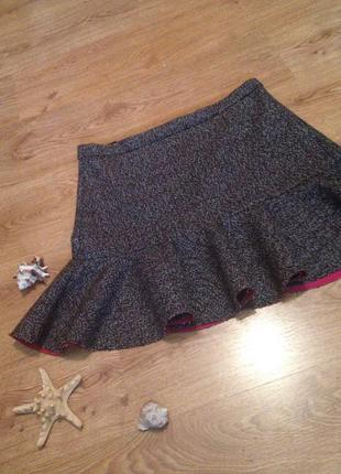 Стильная плотная мини юбка/меланж/под блуза кардиган/ atmosphere / 2 xl