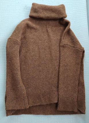 Вязаная, очень теплая кофта под шею h&m, в составе шерсть, размер xs