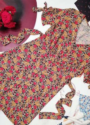 Красивое платье f&f, 100% вискоза, размер 6/34 или xs/s