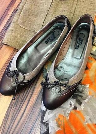 "Итальянские туфли-лодочки ""donna carolina""в стиле casual - кожа/текстиль - 38"