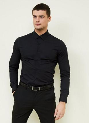 Рубашка shirt muscle fit h&m 2020 -50%