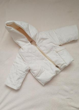 Куртка стеганая теплая 62 см