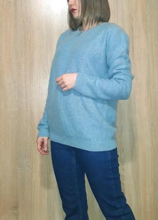 Нежно голубой мягкий кашемировый свитер джемпер cos