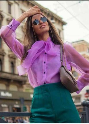 Zara , 🔥 блузка из органзы ,xs, xxs