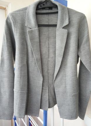 Полуприталенный блейзер пиджак жакет george, м, вязаный трикотраж