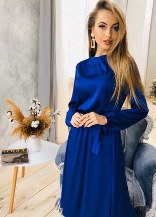 1740.    синее шелковое платье