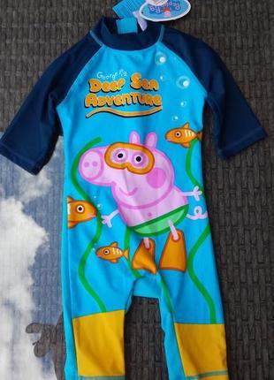 Солнцезащитный купальный костюм peppa pig, 12-18 мес.