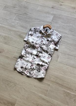 Рубашка с принтом цветов river island гавайка тениска